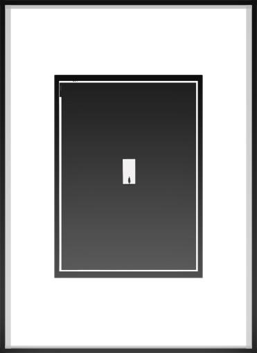 silver gelantine, framed